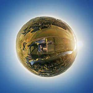 Wallkill View Farm Little Planet at Sunrise